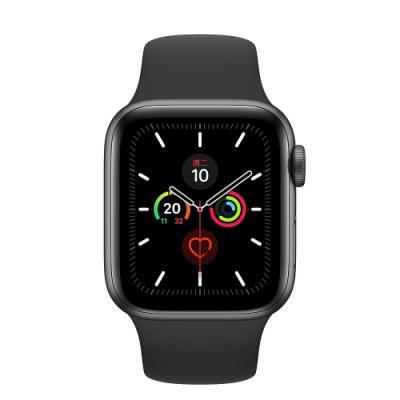 [無卡分期-12期]Apple Watch S5(GPS+網路)40mm灰色鋁+黑色錶帶