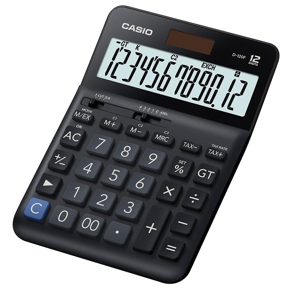 CASIO   12位數桌上小型計算機 (D-120F)