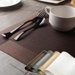 EZlife 歐式易洗速乾隔熱餐墊4片組 (贈地毯防滑固定貼)