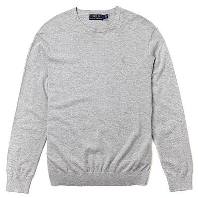 Polo Rlaph Lauren 經典刺繡標誌針織長袖T恤-灰色