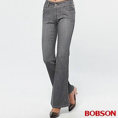 BOBSON 薄布小喇叭褲-淺灰
