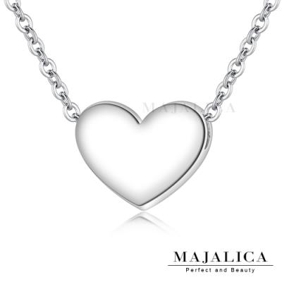 Majalica精緻甜心鎖骨鍊925純銀項鍊愛心女短鍊 銀色 單個價格(MIT)