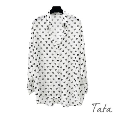 寬鬆愛心點點印花罩衫 TATA-F