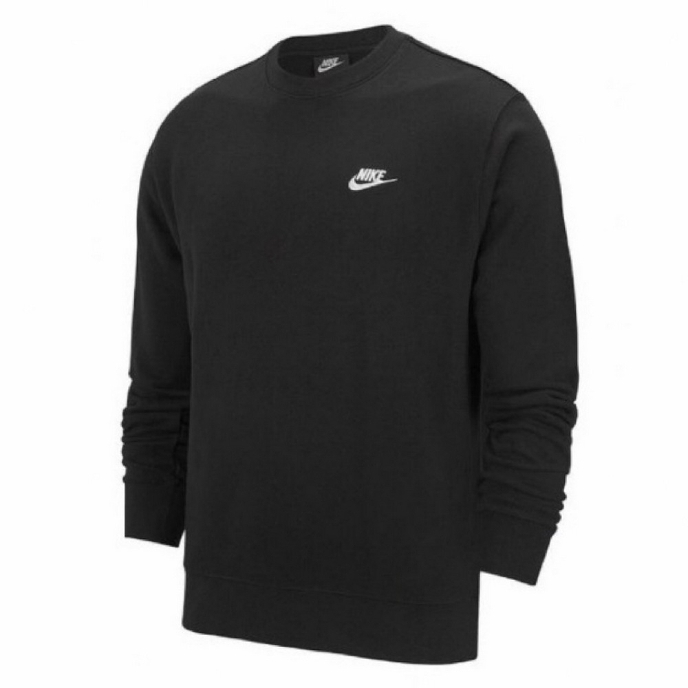 Nike  男 NSW CLUB長袖上衣 黑-BV2667010