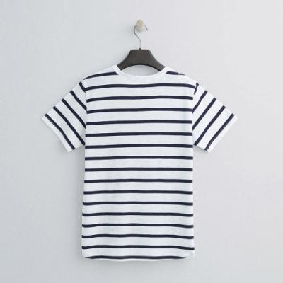 Hang Ten - 女裝 - 有機棉-簡約小開襟T桖 - 白