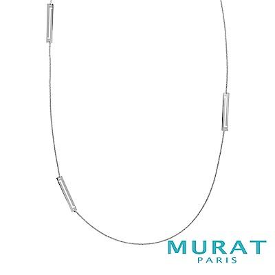 MURAT Paris 法國輕珠寶 雅緻長形線條長項鍊