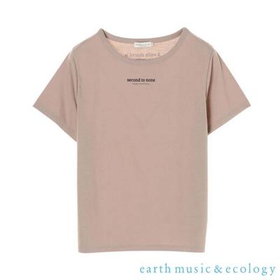 earth music  second to none標語圓領短袖T恤