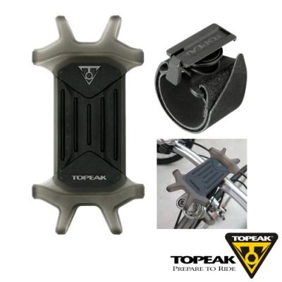 TOPEAK OMNI RideCase 4.5-6.5吋多用途彈性矽膠手機套附固定座-黑