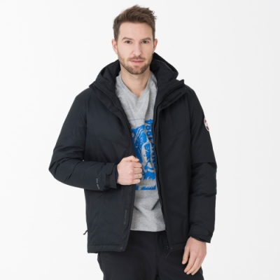 【St. Bonalt 聖伯納】男款多口袋智慧羽絨外套 (8101-黑色) 防風 防水 保暖 透氣