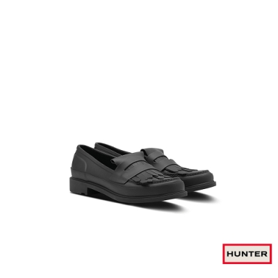HUNTER - 女鞋-Refined流蘇樂福休閒鞋 - 黑