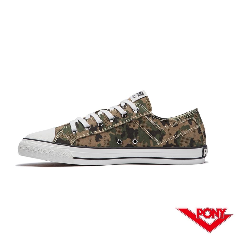 【PONY】Shooter系列迷彩百搭復古帆布鞋 休閒鞋  男鞋 綠色