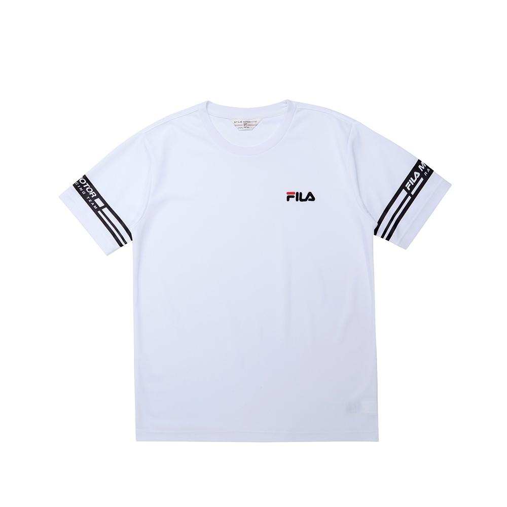 FILA 男短袖圓領T恤-白色 1TEU-1481-WT
