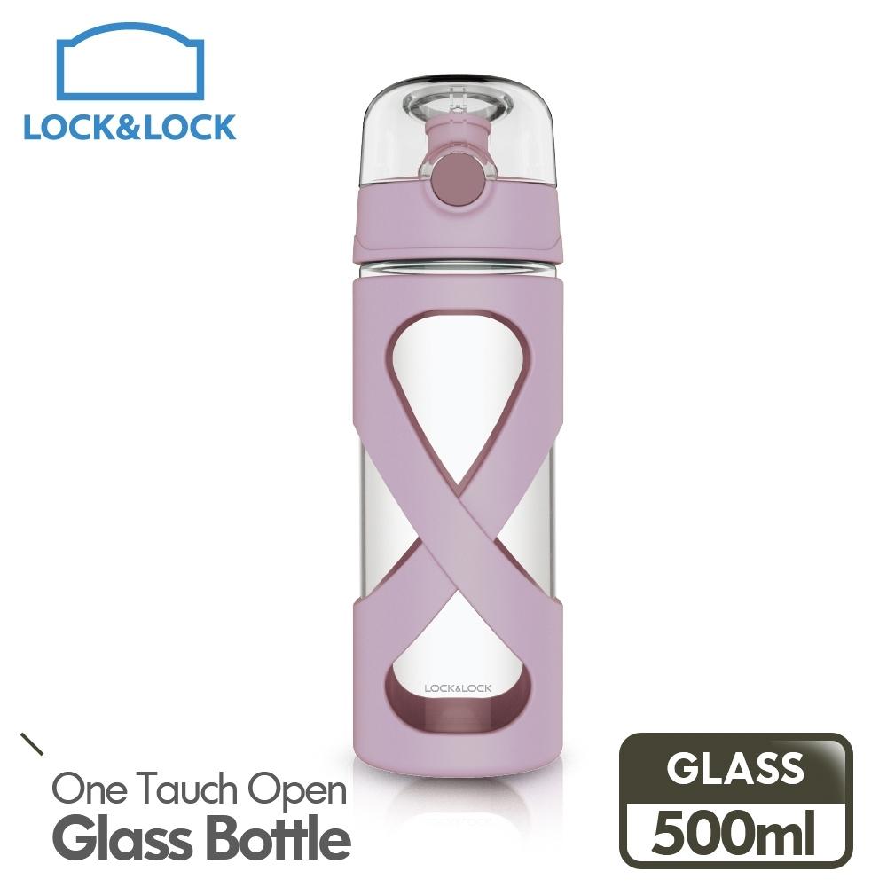 【樂扣樂扣】馬卡龍彈跳耐熱玻璃水壺500ml/香芋紫