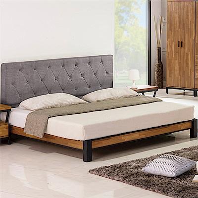 綠活居 奧維亞6尺雙人加大床組(床頭片+床底+不含床墊)-183x202x106cm免組