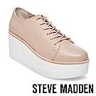 STEVE MADDEN-KIMBER 素面綁帶厚底鞋-裸色