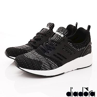 DIADORA-針織輕彈跑鞋款 CSI890黑(女段)