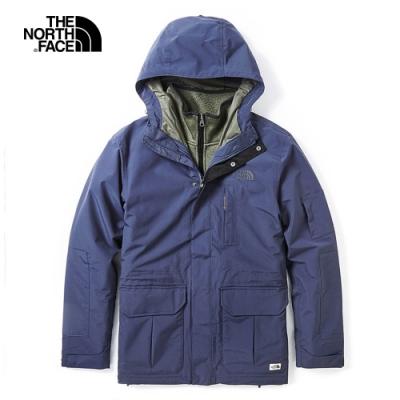 The North Face北面男款藍色防水保暖戶外三合一外套 3VU9H2G