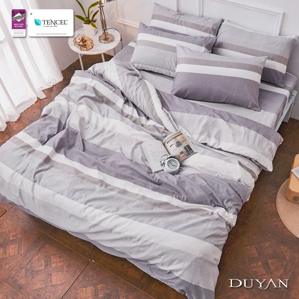 (均一價)DUYAN竹漾-3M吸濕排汗奧地利天絲-單/雙/大床包枕套組-多款任選 台灣製 (古斯塔夫)