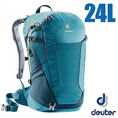 德國 Deuter Futura 24L 輕量網架式透氣背包(附防水背包套)_湖綠/藍