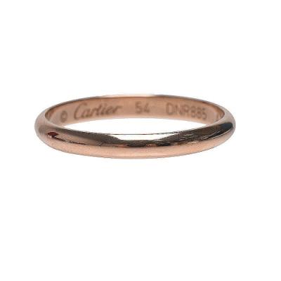 Cartier 經典1895系列K金細版戒指(玫瑰金)