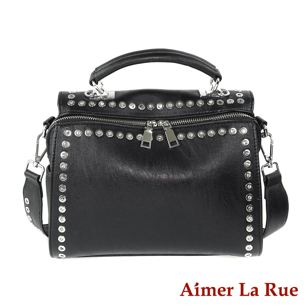 Aimer La Rue 弗拉迪手提側背包-黑色(快)
