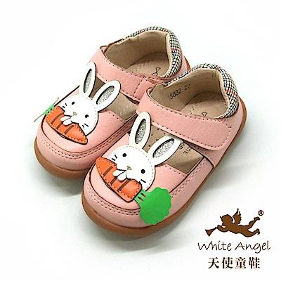 天使童鞋 兔子愛蘿蔔娃娃鞋(小-中童)i8032-粉