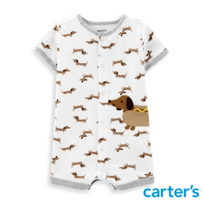 【Carter s】 臘腸狗紳士連身裝(6M-24M) 任選 (台灣總代理)