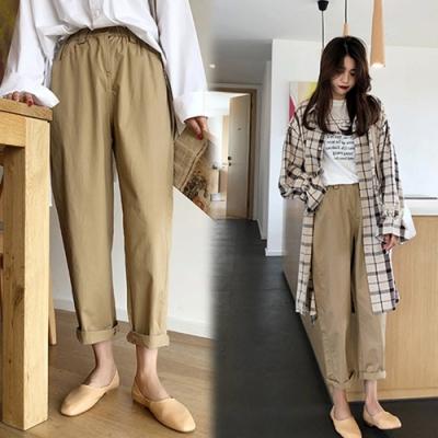 【韓國K.W.】輕柔紳士女伶哈倫褲-2色