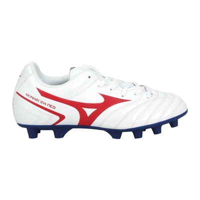 MIZUNO MONARCIDA NEO II SELECT JR男童足球鞋 P1GB210562 白紅