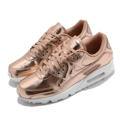 Nike 休閒鞋 Air Max 90 SP 運動 男女鞋 經典款 氣墊 舒適 避震 質感 穿搭 玫瑰金 白 CQ6639600