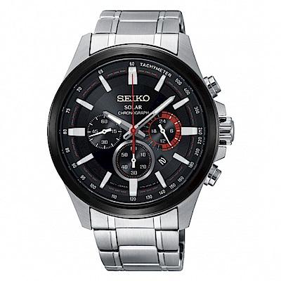 SEIKO Criteria三眼計時太陽能腕錶/SSC677P1/V175-0ER0R