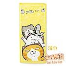白爛貓Lan Lan Cat 臭跩貓滿版印花浴巾(疊羅漢-好友疊羅漢)