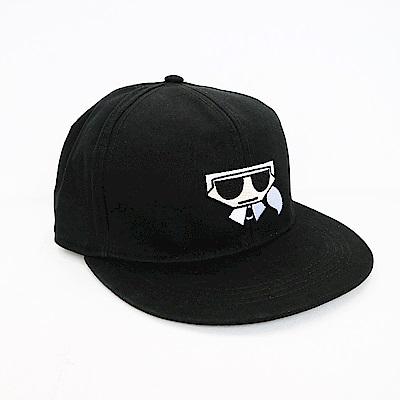 KARL LAGERFELD 黑色卡爾棒球帽