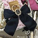 Maison de FLEUR 蝴蝶結緞帶鑲鑽手機指環