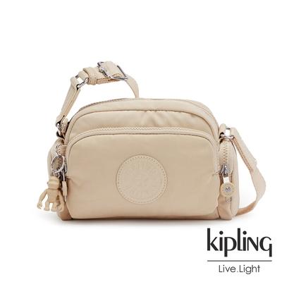 Kipling 焦糖奶茶棕好收納隨身斜背包-JENERA MINI