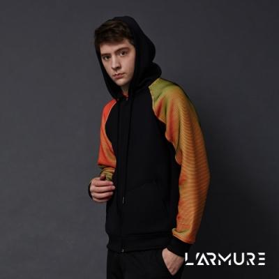 L ARMURE 男裝 ColorFlow 閃色 連帽外套 立體橘金