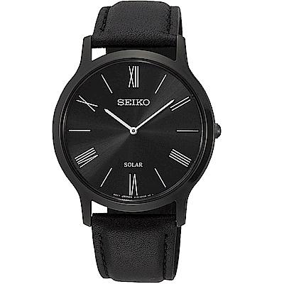 SEIKO 太陽能極簡風格時尚腕錶/SUP855P1/V115-0BE0SD