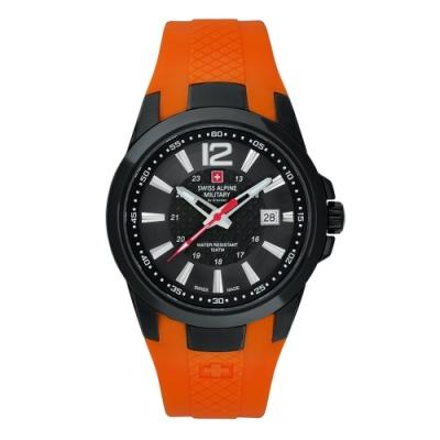 阿爾卑斯軍錶S.A.M 武力全開系列-能量橘/橡膠錶帶/43mm