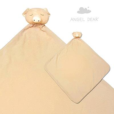 美國 Angel Dear 大頭動物嬰兒毛毯禮盒版 (小豬系列)