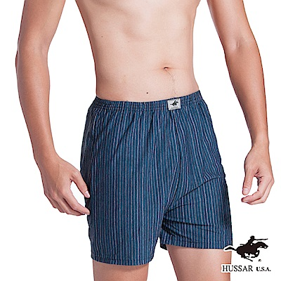 HUSSAR  時尚簡約條紋平口褲(回饋12件組)