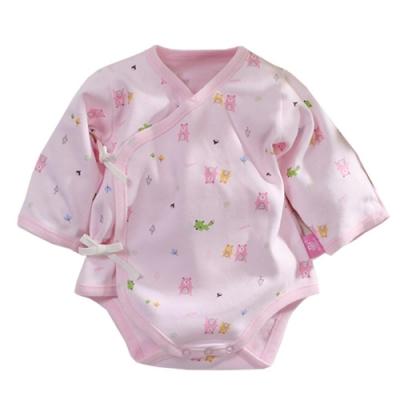 台灣製純棉厚款寶寶護手連身衣 b0072 魔法Baby
