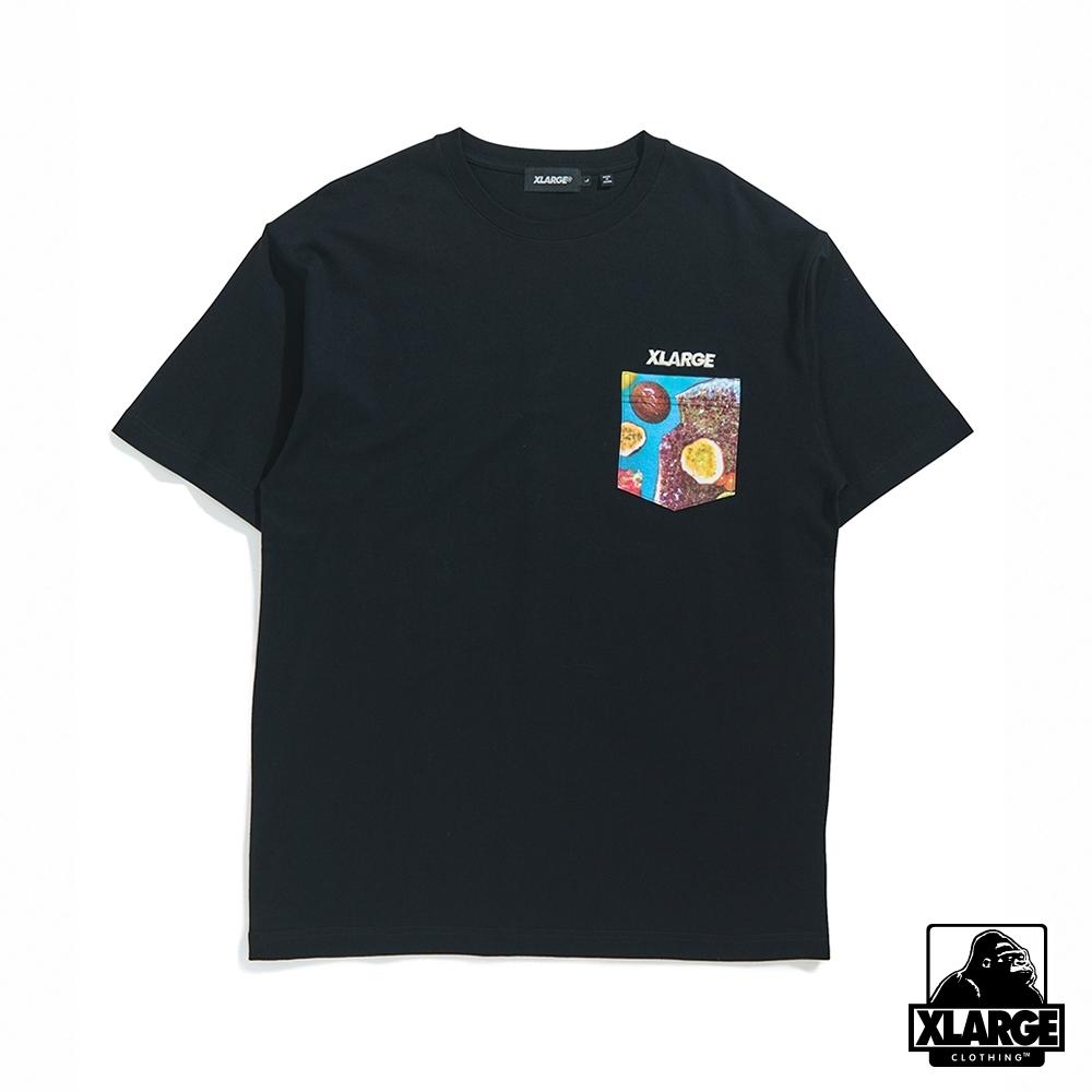 XLARGE S/S INGREDIENTS STANDARD POCKET短袖T恤-黑