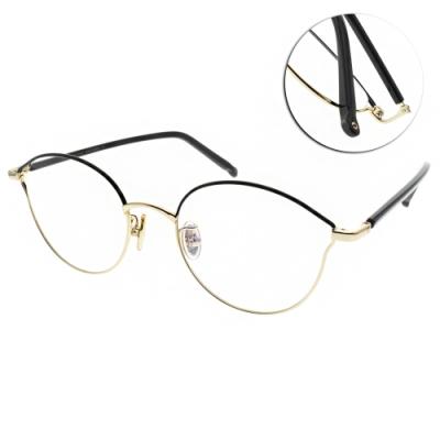 NINE ACCORD光學眼鏡  韓系多邊造型款/黑金-黑#PLACO-ISIS1 C1