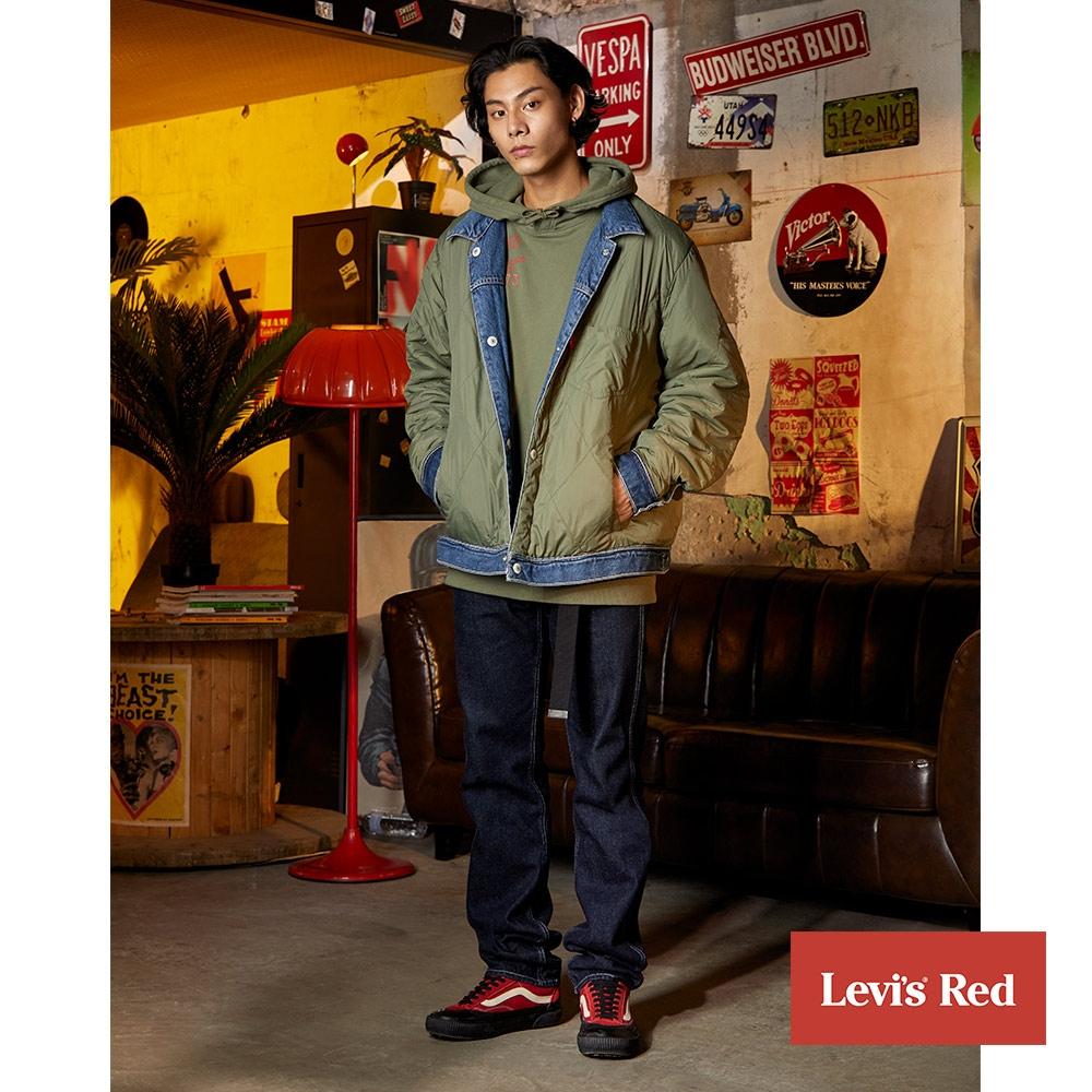 Levis Red 工裝手稿風復刻再造 男款 505修身直筒牛仔褲 原色 寒麻纖維