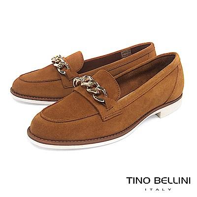Tino Bellini 義大利進口大方率性環形鍊釦莫卡辛鞋 _ 淺棕