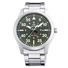 ORIENT東方SP飛行運動時尚手錶FUNG2001F-綠X銀/42mm