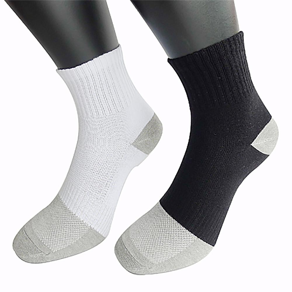 三合豐 ELF 竹炭除臭抗夏輕薄短襪/學生襪-12雙