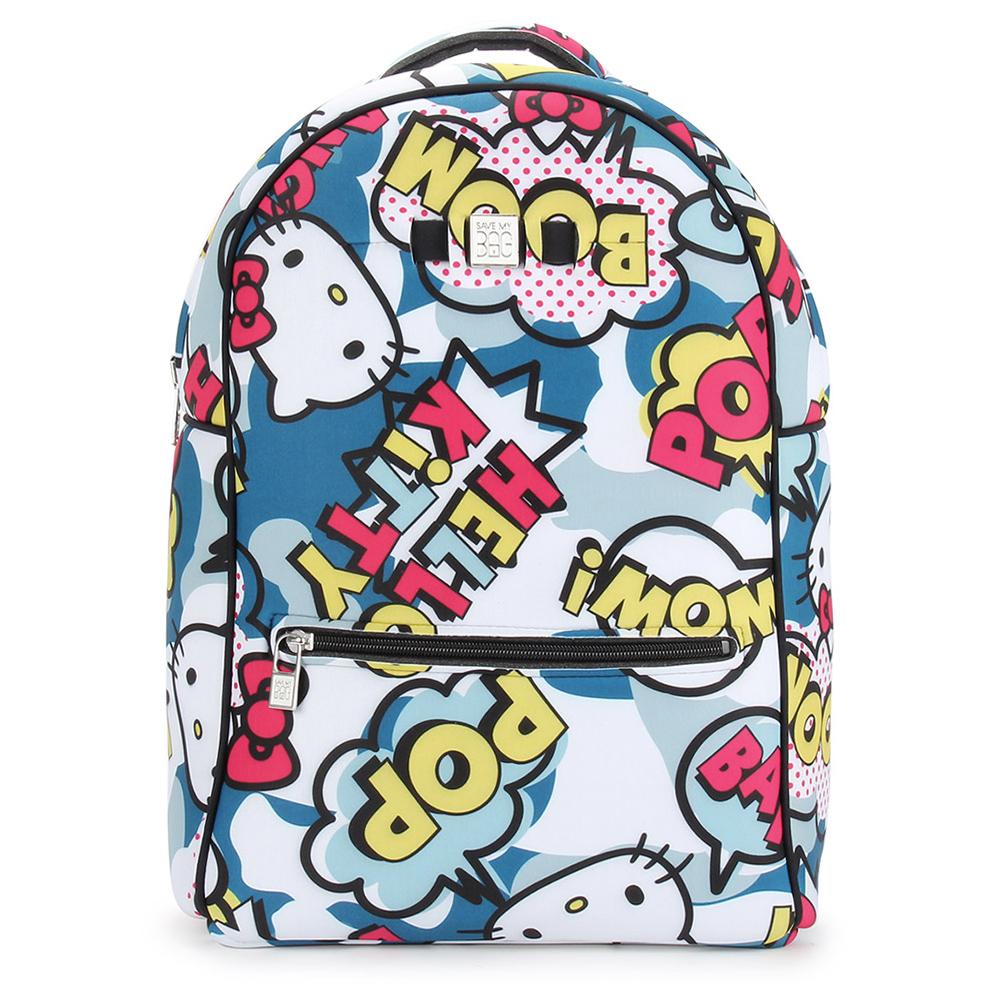 SAVE MY BAG Zaino系列限量Hello Kitty輕量防水後背包-藍色