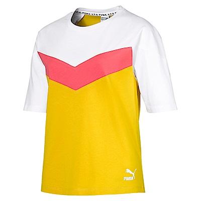 PUMA-女性流行系列XTG短袖T恤-硫磺色-歐規