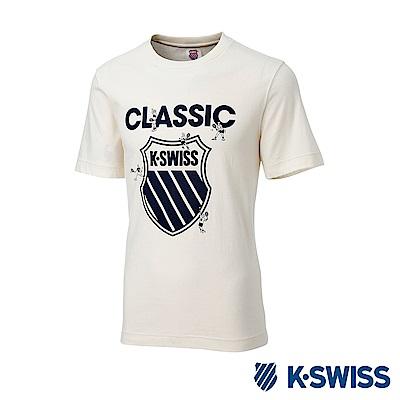 K-SWISS Origine Logo Tee印花短袖T恤-男-象牙白